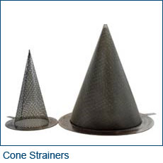 Wire Cloth Cone strainers for pipelines