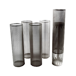 wire mesh cylinders with overscreens