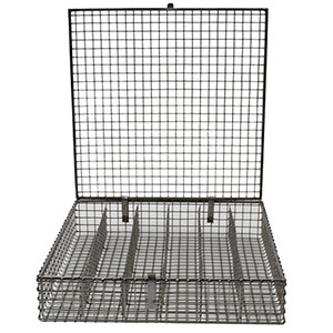 Wire Cloth Basket With Lid